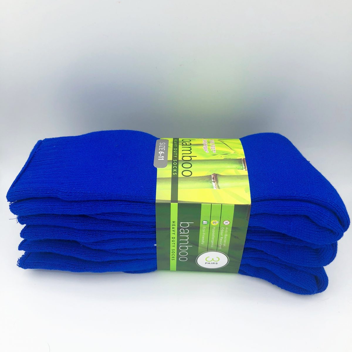 Bamboo Heavy Duty Socks - 3 Pairs Pack - Royal Blue