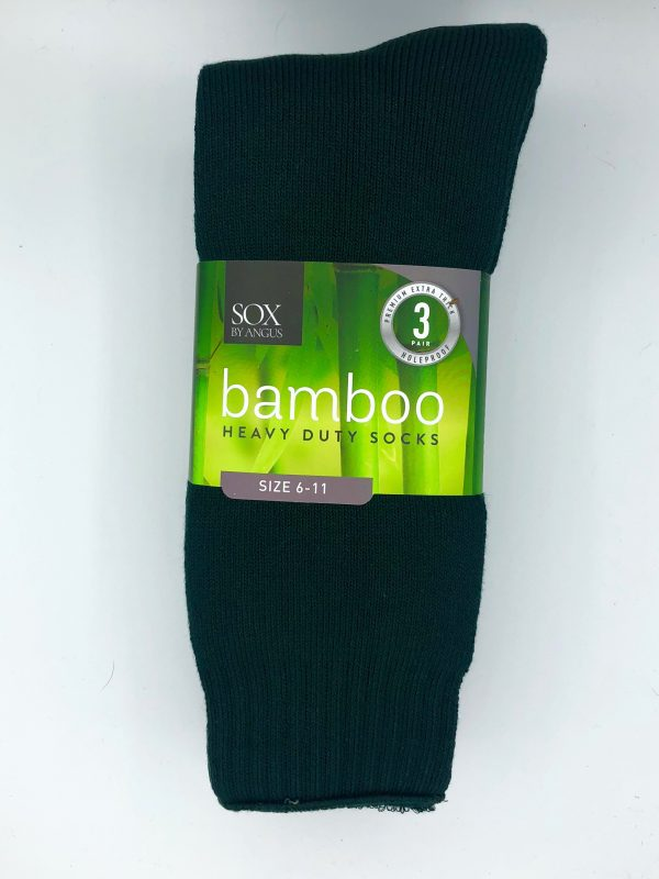 Bamboo Heavy Duty Socks – 3 Pairs Pack – Bottle Green