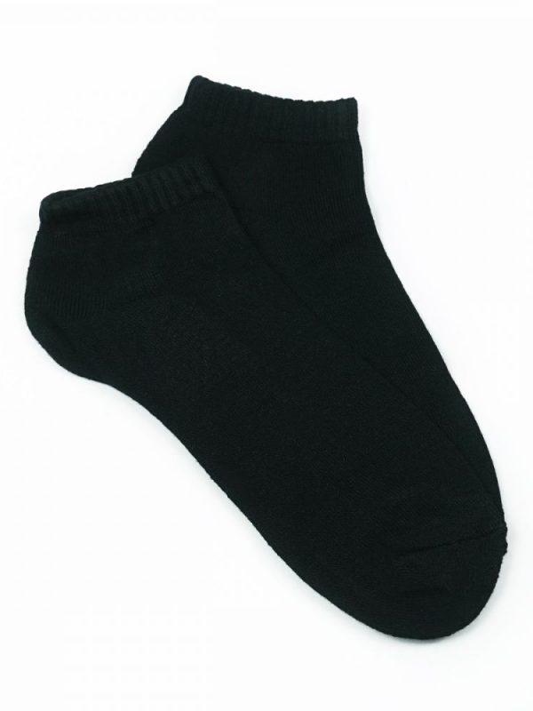 Bamboo Cushion Anklet Socks – Black
