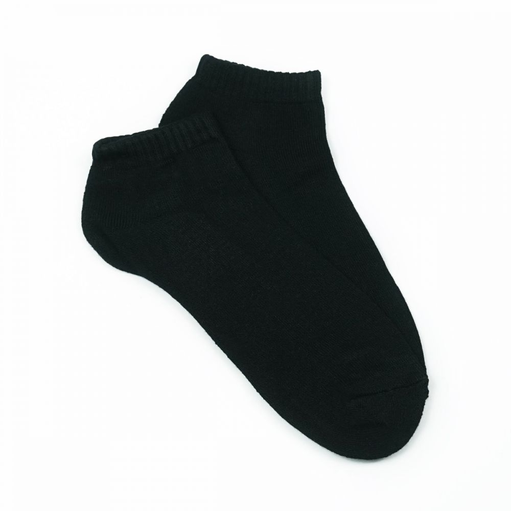 Bamboo Cushion Anklet Socks - White/Black