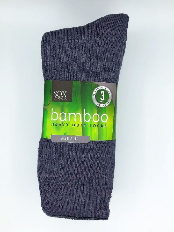 Bamboo Heavy Duty Socks – 3 Pairs Pack – Grey