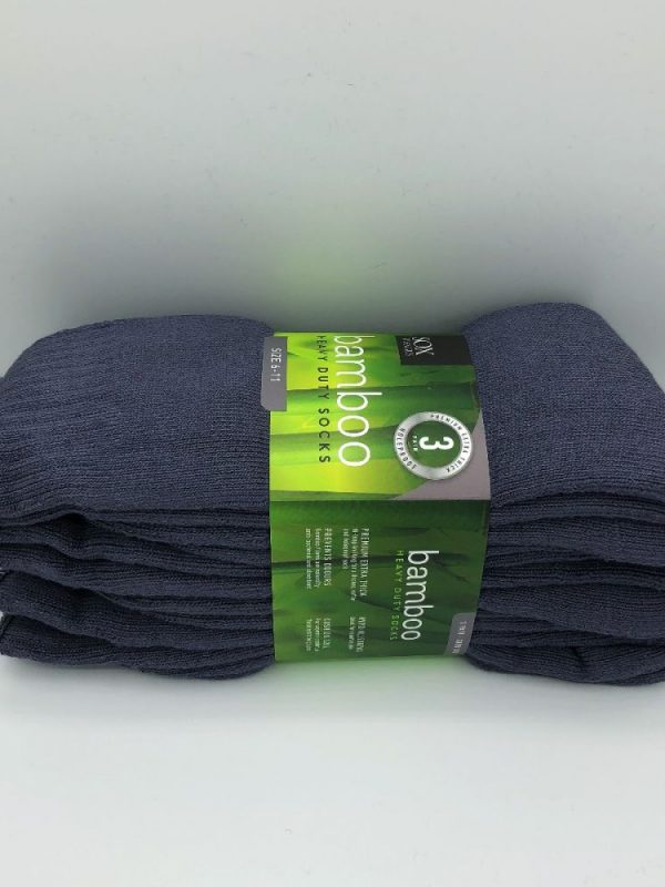 Bamboo Heavy Duty Socks - 3 Pairs Pack - Grey