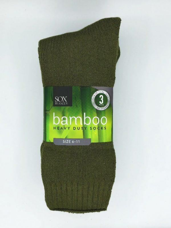 Bamboo Heavy Duty Socks – 3 Pairs Pack – Khaki