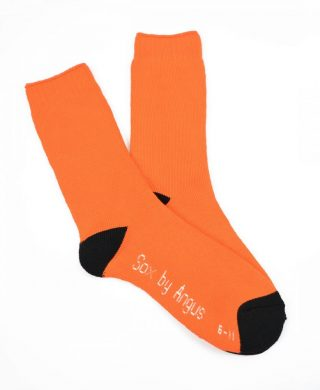 Bamboo Heavy Duty Socks Orange Black