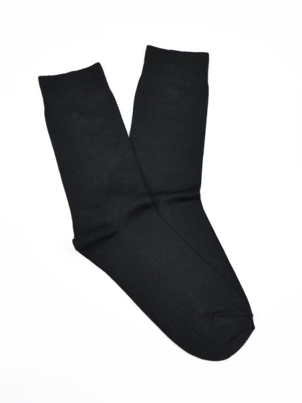 Bamboo Plain Business Socks – Black