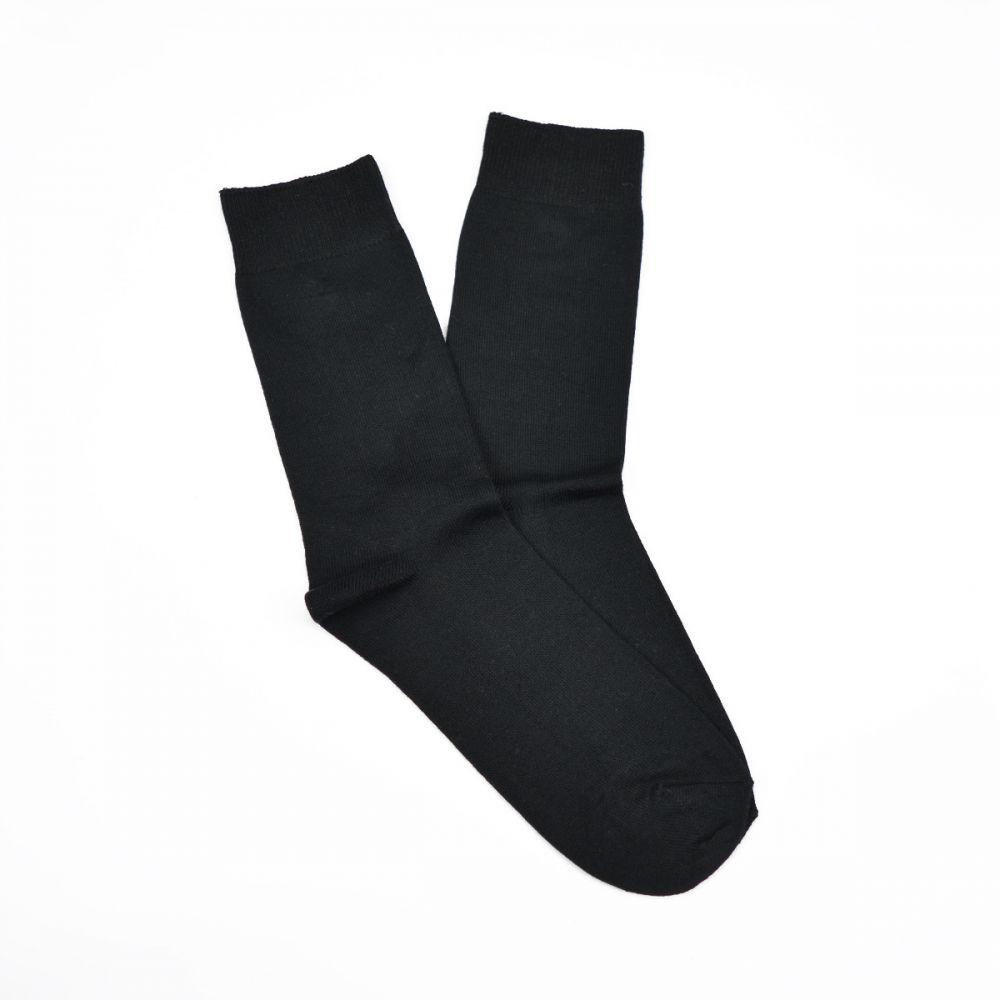 Bamboo Plain Business Socks - Black