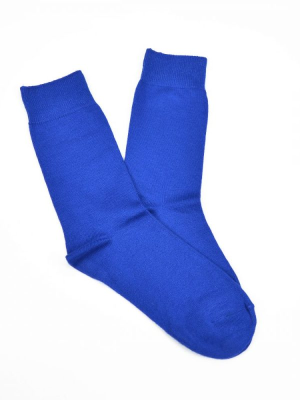 Bamboo Plain Business Socks – Blue