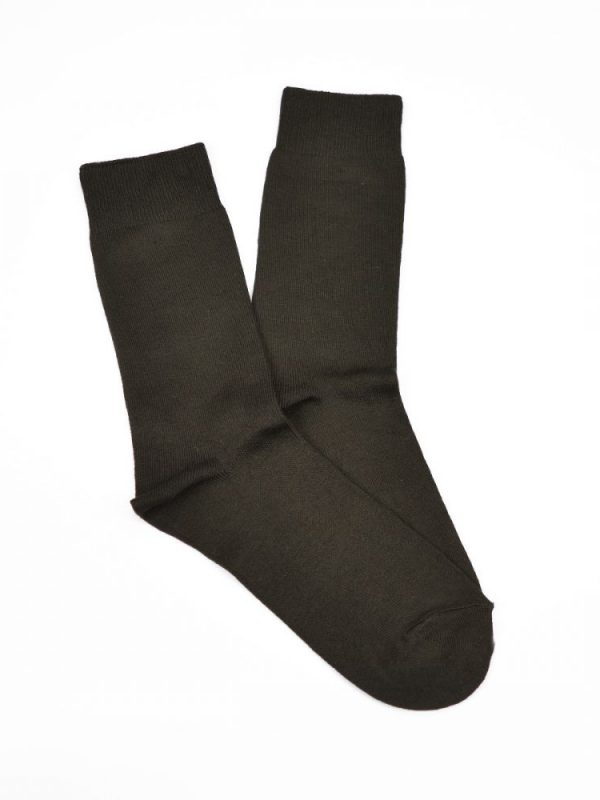 Bamboo Plain Business Socks – Brown