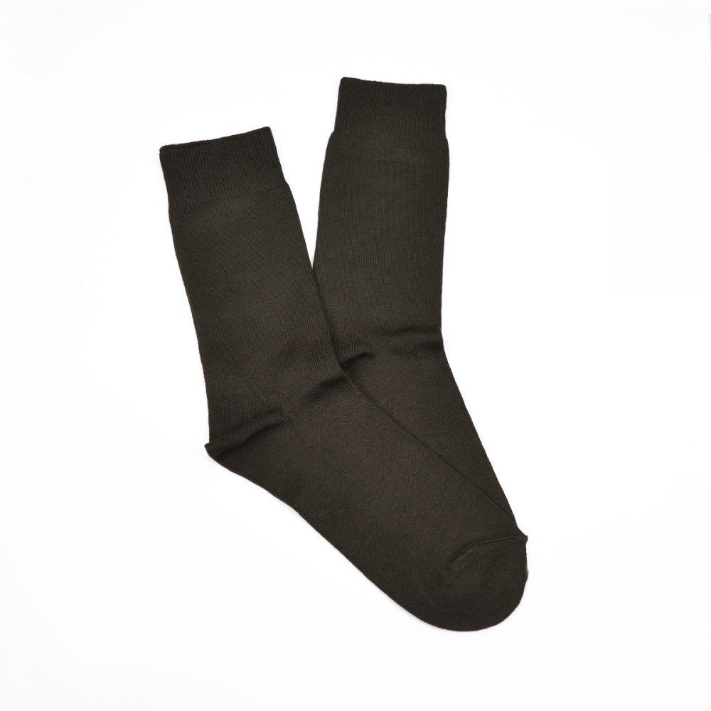 Bamboo Plain Business Socks - Brown