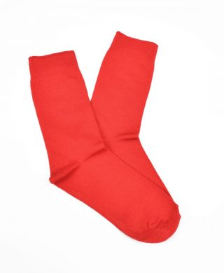Bamboo Plain Business Socks – Red