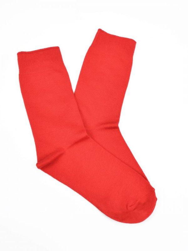 Bamboo Plain Business Socks – Red