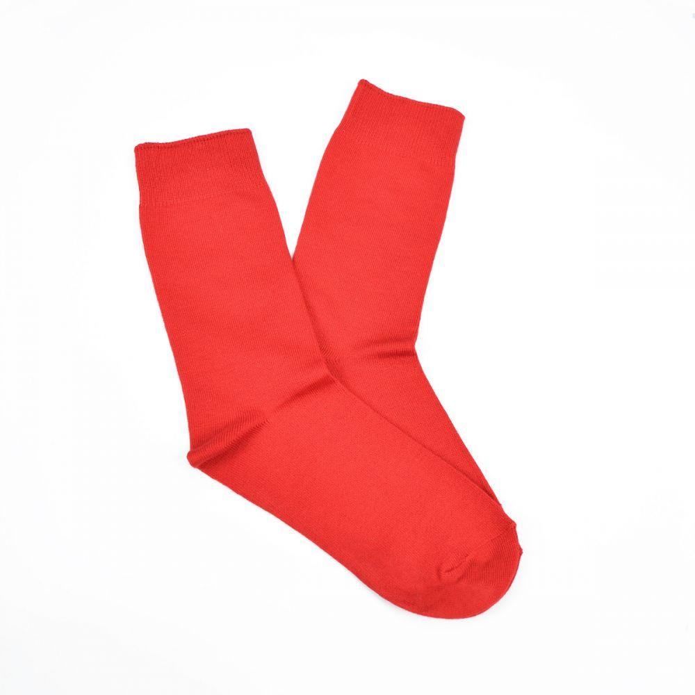 Bamboo Plain Business Socks - Red