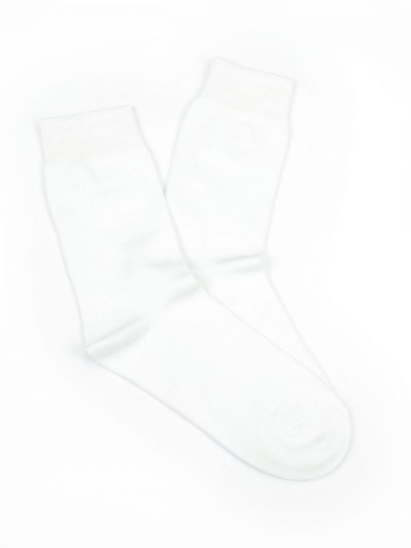 Bamboo Plain Business Socks – White