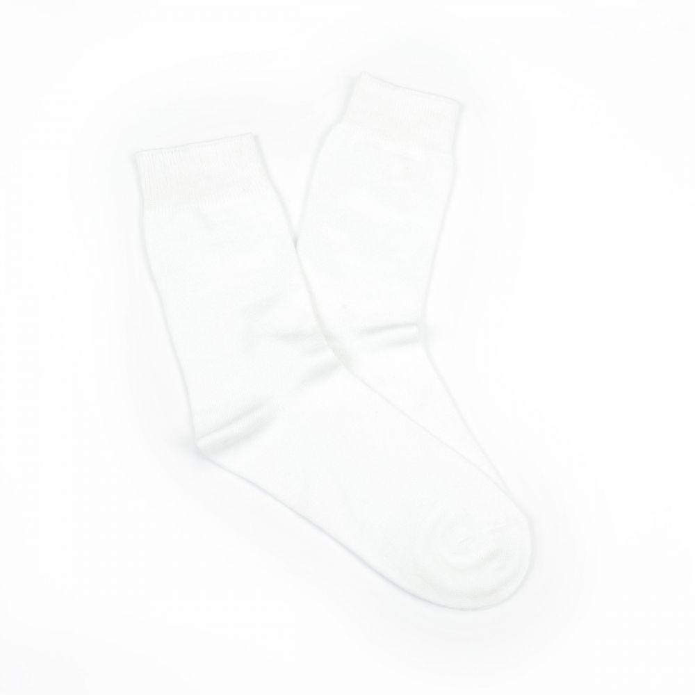Bamboo Plain Business Socks - White