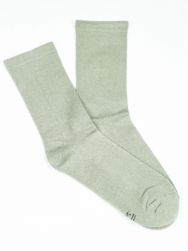 Bamboo Plain Cushion Foot Loose Top Socks – Beige