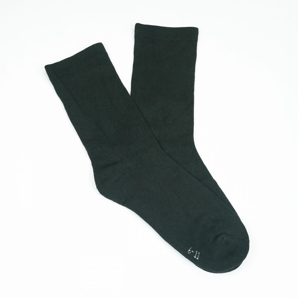Bamboo Plain Cushion Foot Loose Top Socks Charcoal
