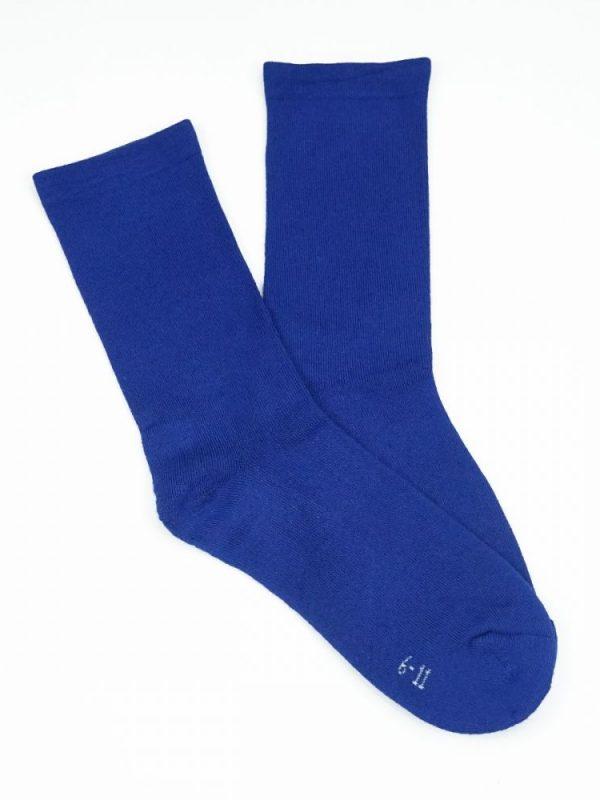 Bamboo Plain Cushion Foot Loose Top Socks – Royal Blue