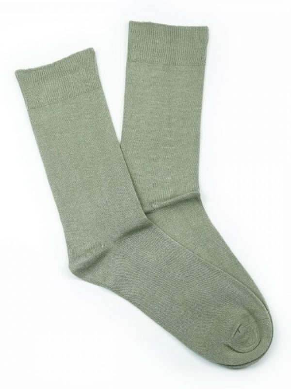 Bamboo Plain Loose Top Socks – Beige
