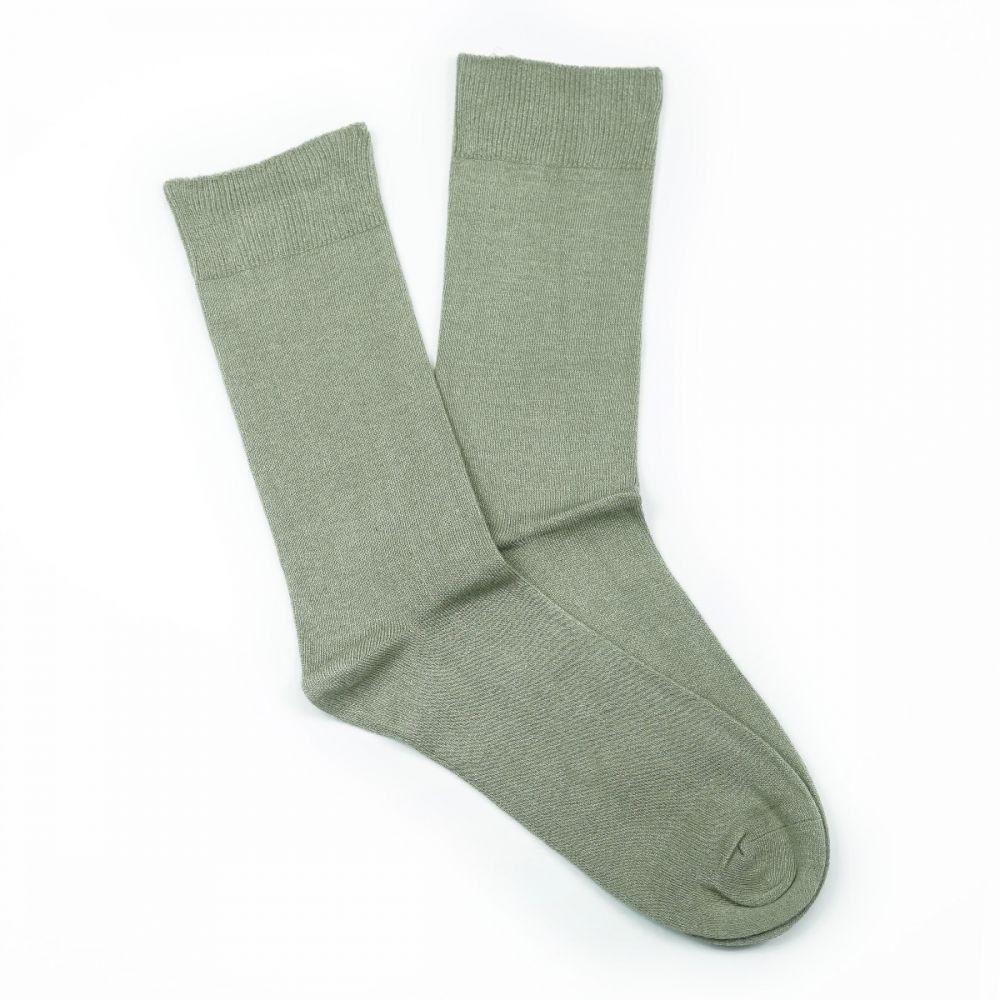 Bamboo Plain Loose Top Socks Beige