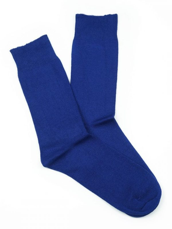 Bamboo Plain Loose Top Socks – Royal Blue