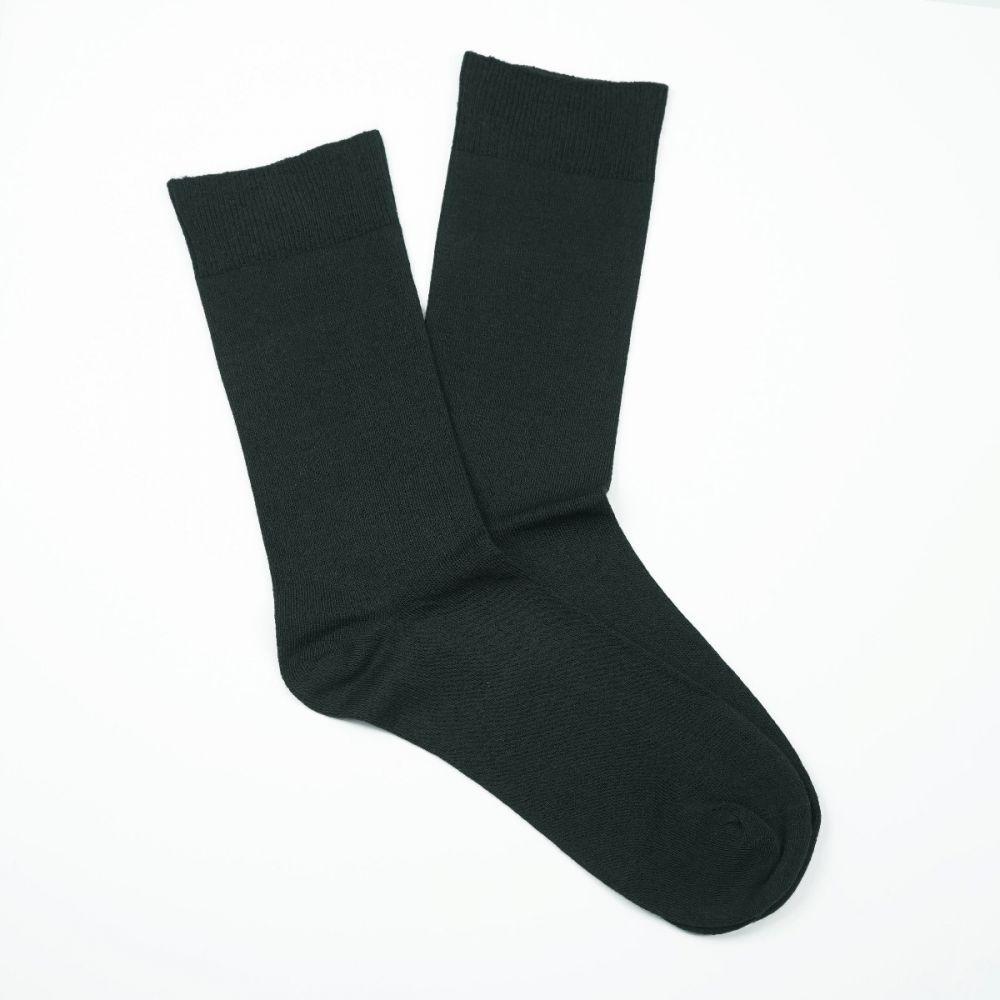 Bamboo Plain Loose Top Socks - Charcoal