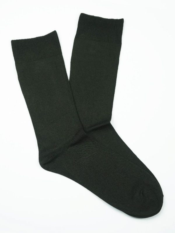 Bamboo Plain Loose Top Socks – Brown
