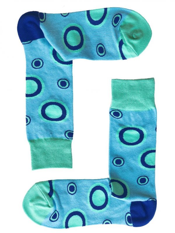 Blue Circles Socks