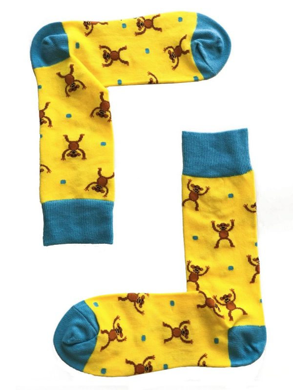 Monkey Cheer Socks