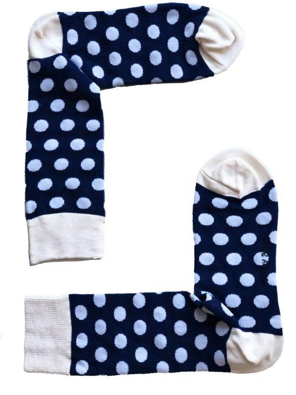 Circles In Blue Socks