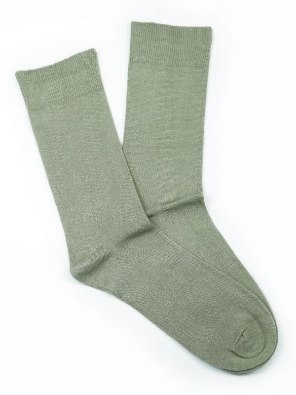 Cotton Loose Top Socks – Beige