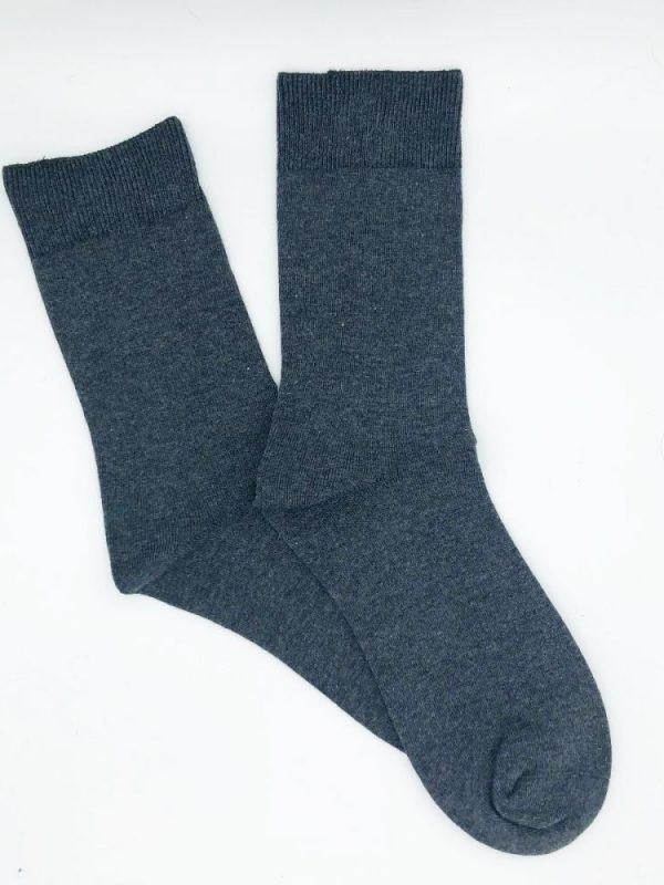 Cotton Loose Top Socks – Charcoal