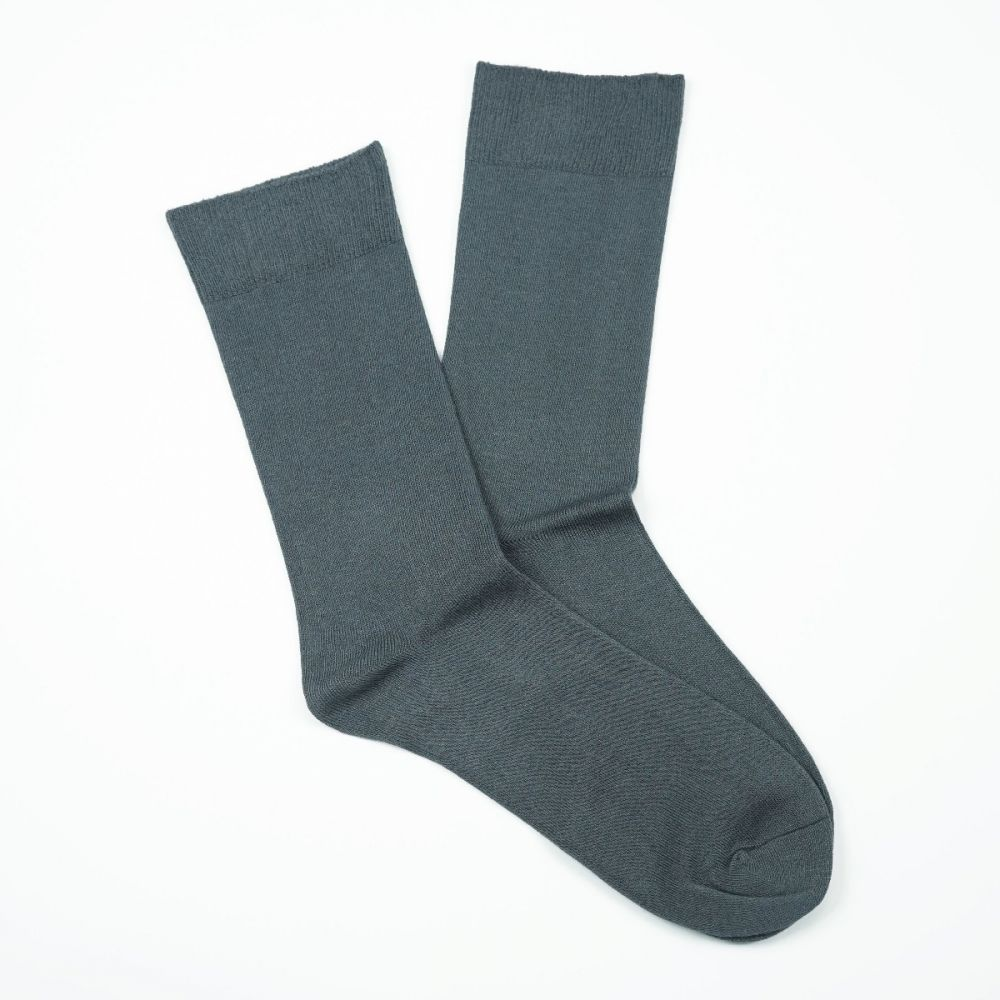Cotton Loose Top Socks - Grey