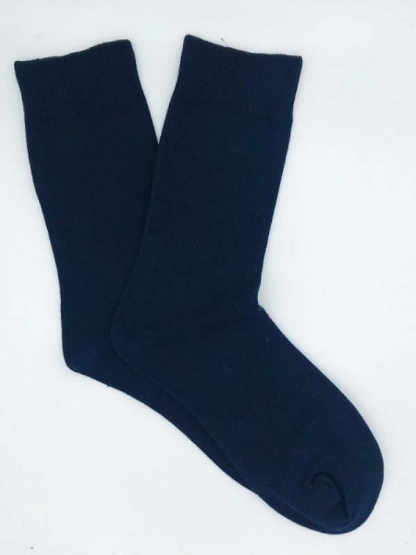 Cotton Loose Top Socks – Navy