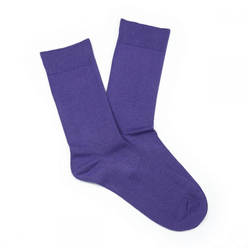 Cotton Loose Top Socks Purple