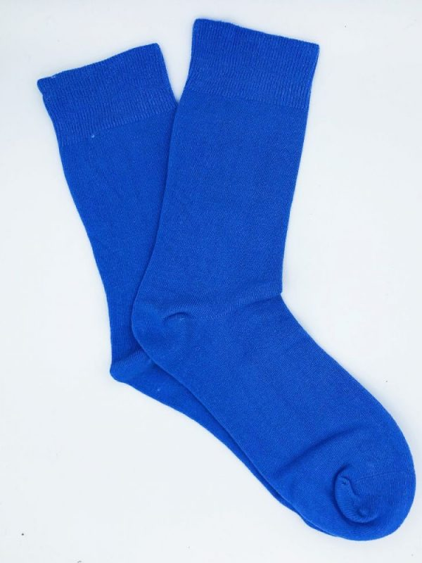 Cotton Loose Top Socks – Sky Blue