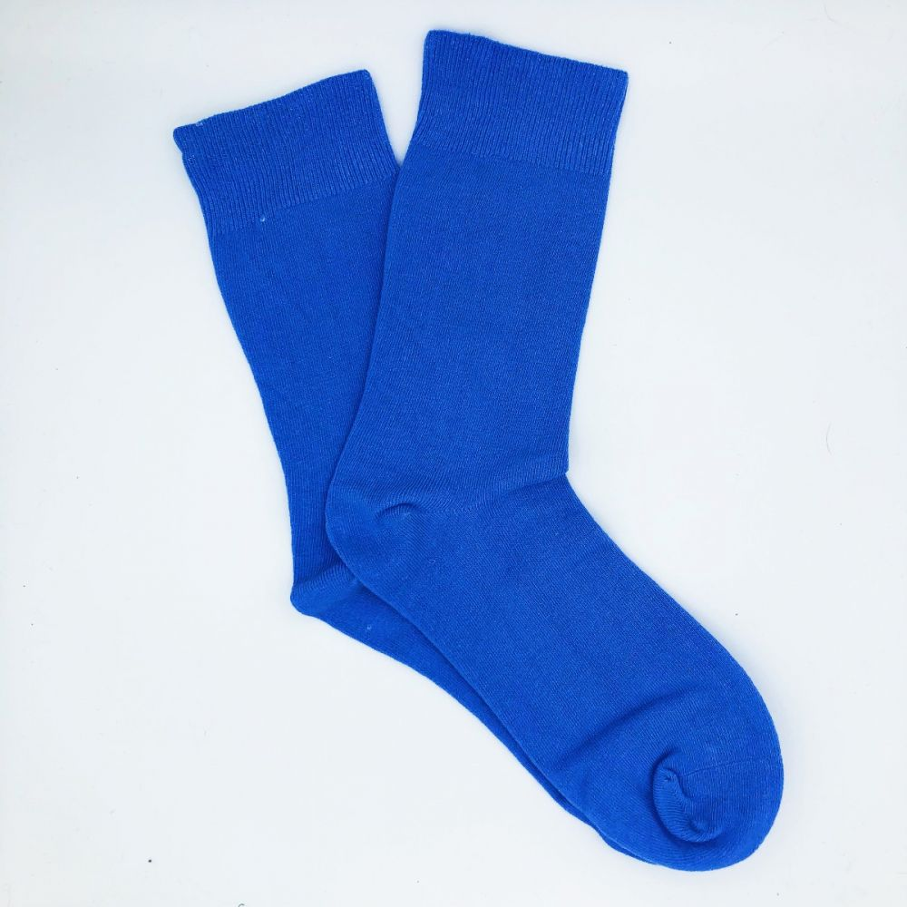 Cotton Loose Top Socks - Sky Blue