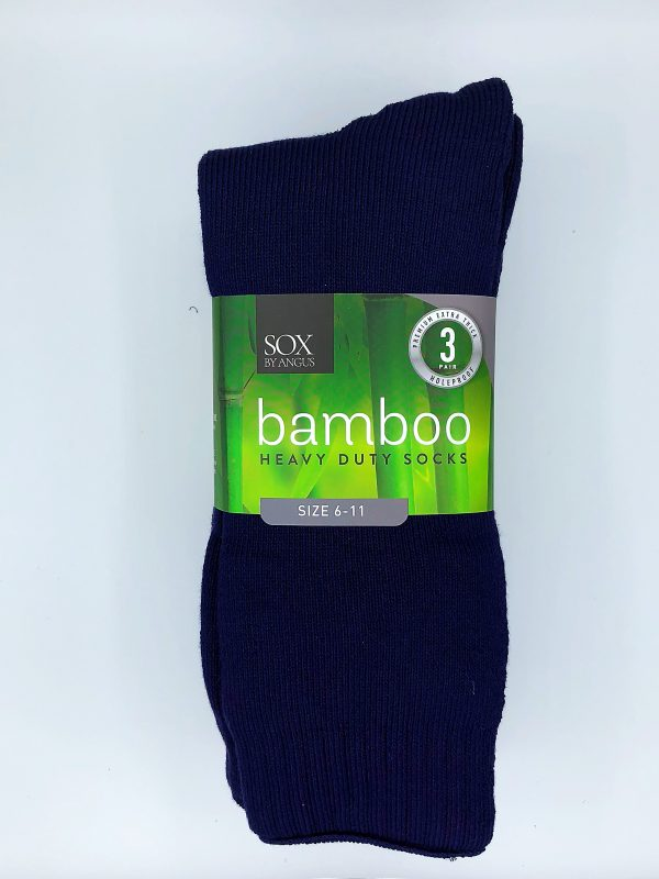 Bamboo Heavy Duty Socks – 3 Pairs Pack – Navy Blue