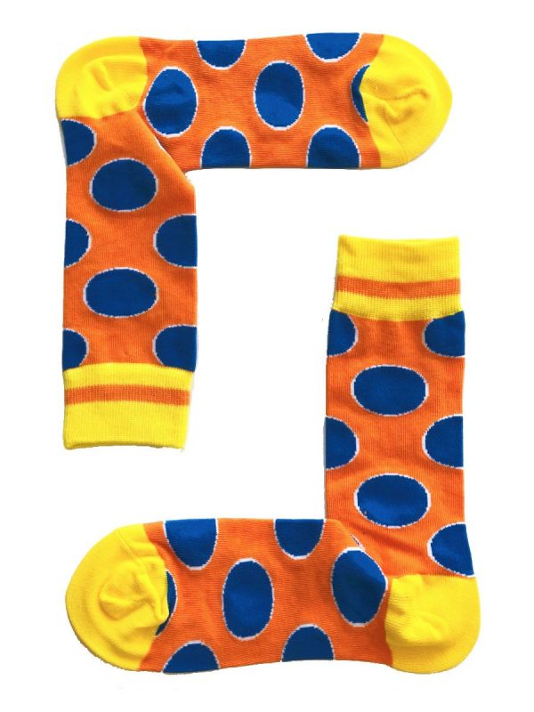 Orange and Blue Circles Socks