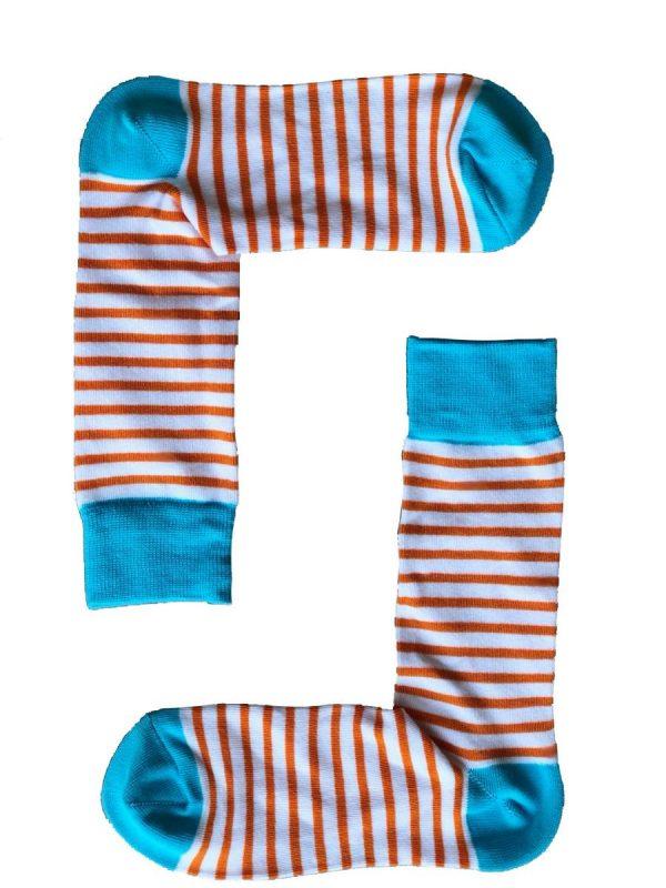 Orange Stripe Socks