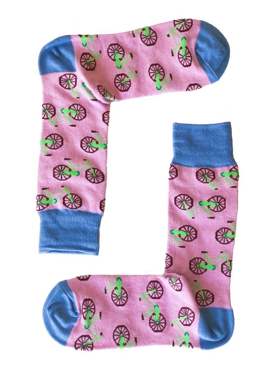 Pink Bike Socks