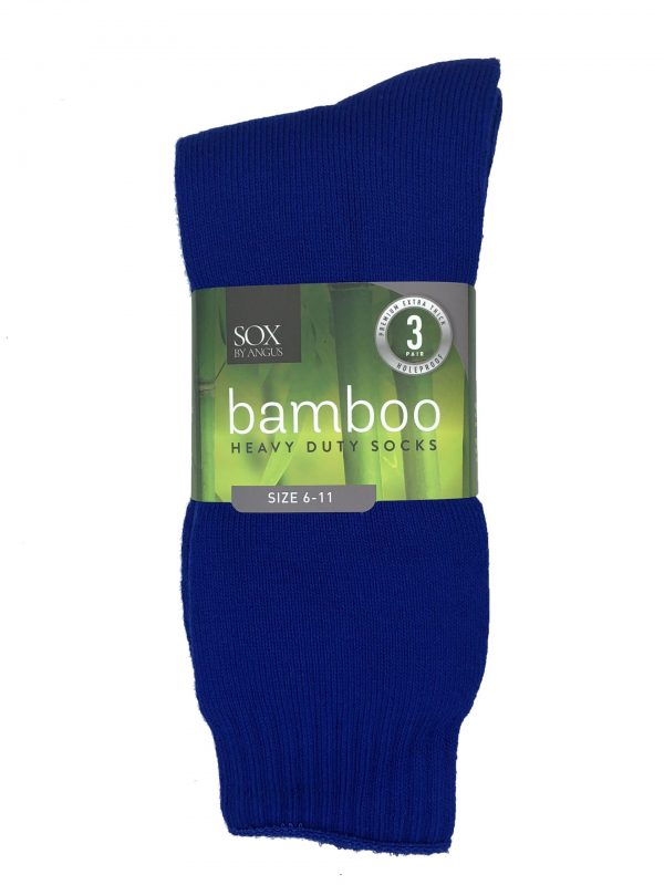 Bamboo Heavy Duty Socks – 3 Pairs Pack – Royal Blue
