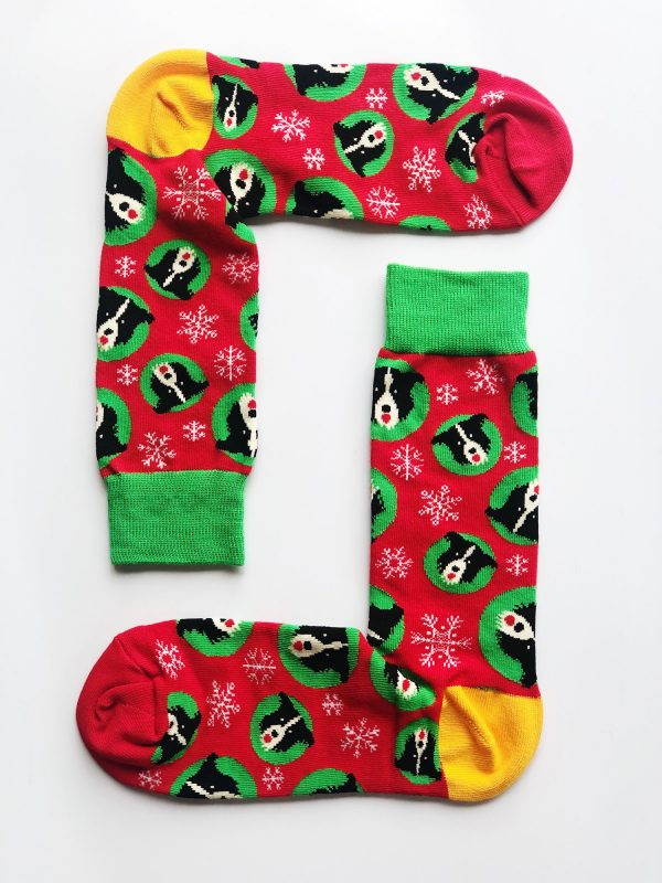 Christmas Border Collie Sock