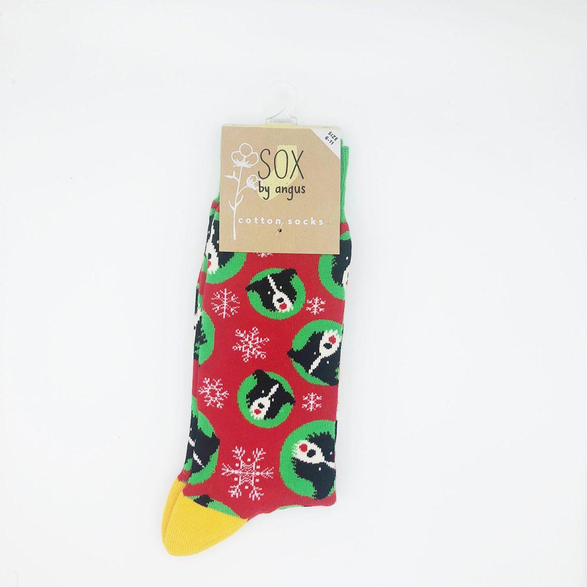 Christmas Border Collie Sock