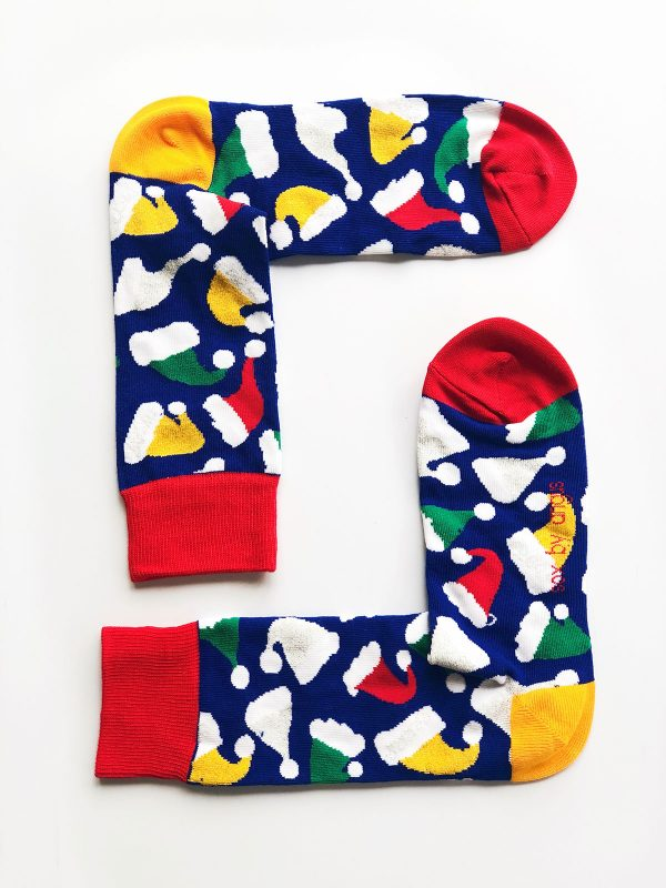 Christmas Hat Socks