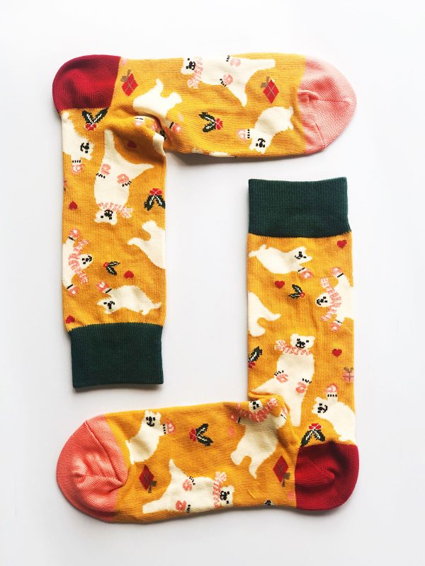 Christmas Polar Bear Socks
