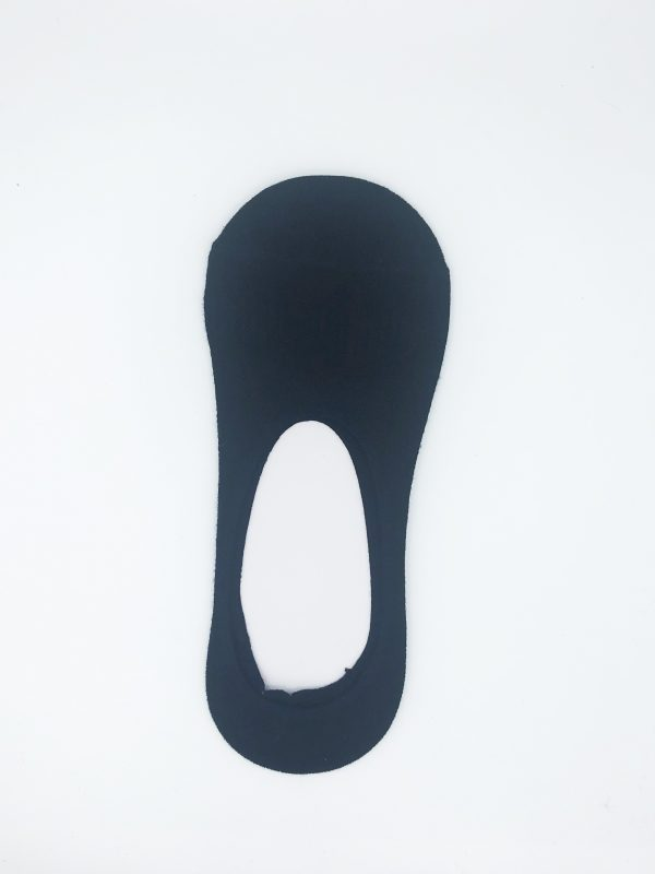 Bamboo invisible socks-medium cut-Black