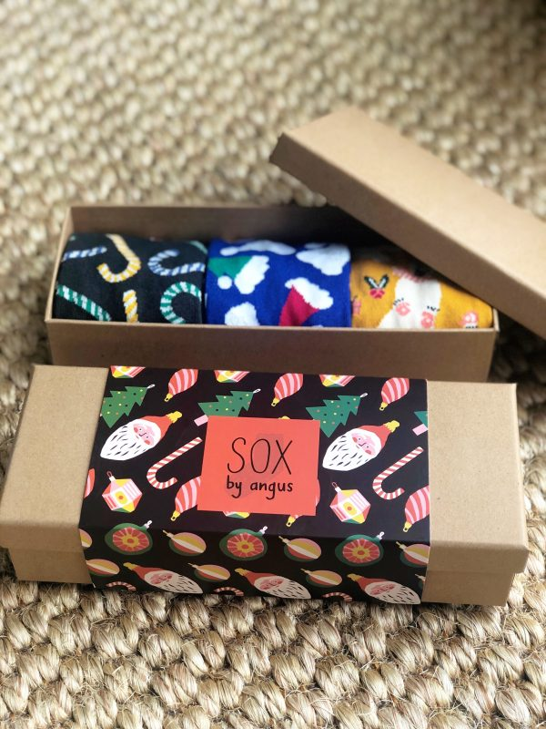 X'mas Gift Box E (Combed cotton novelty socks)