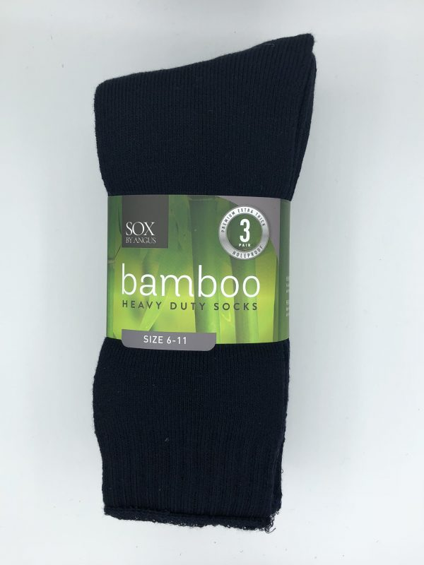 Bamboo Heavy Duty Socks – 3 Pairs Pack – Navy