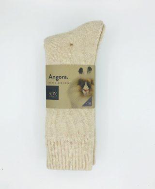 Angora Wool Blend Socks 2 Pair Pack – Beige