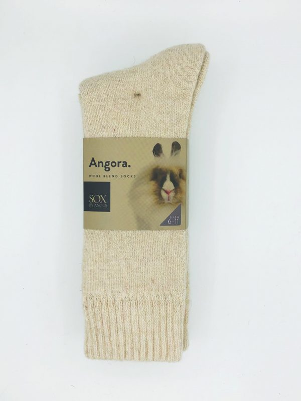 Angora Wool Blend Socks 2 Pair Pack – Beige